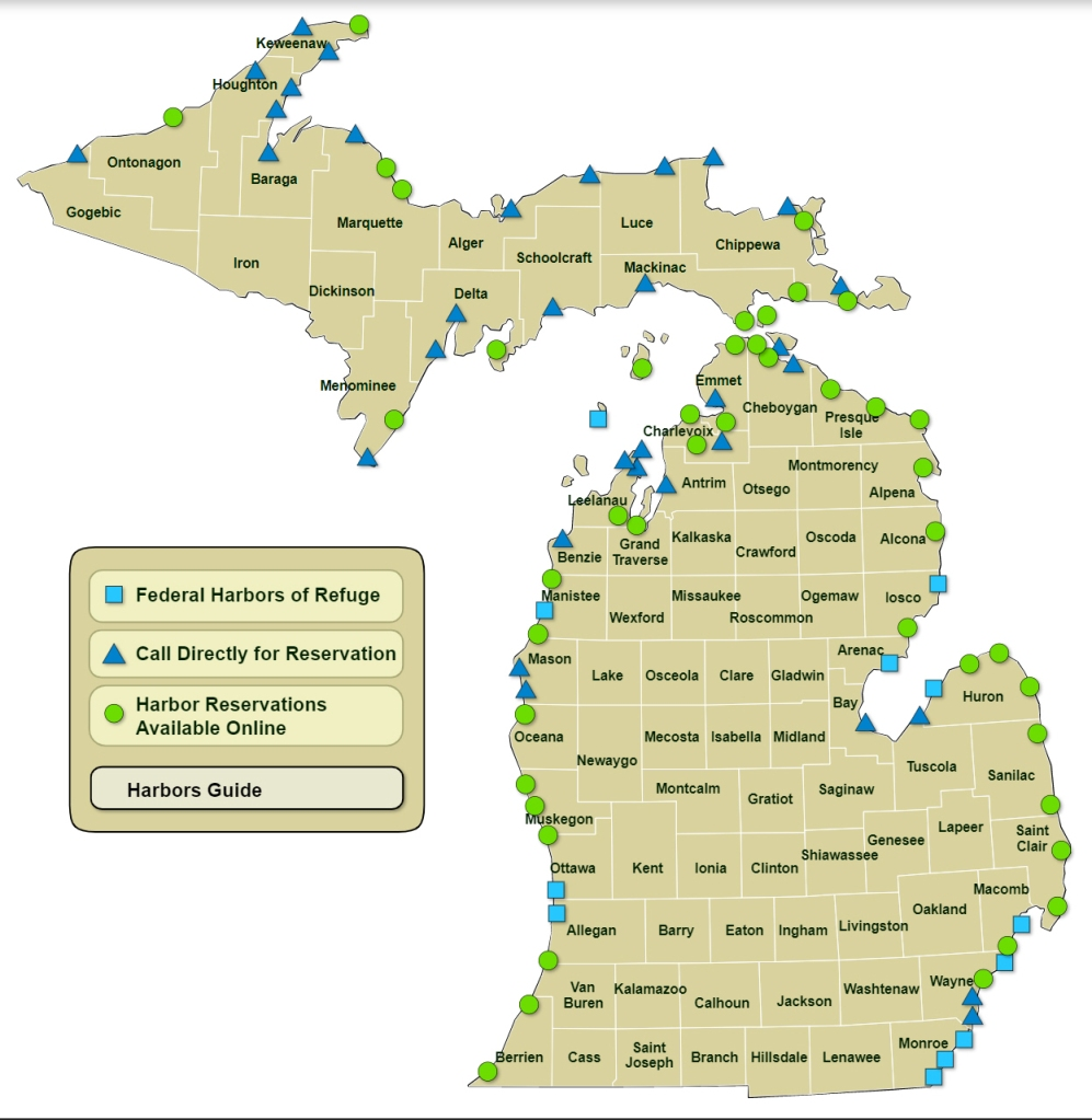 Michigan Harbors Map