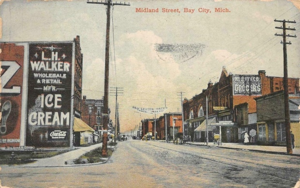 Postcard of Bay City in 1908