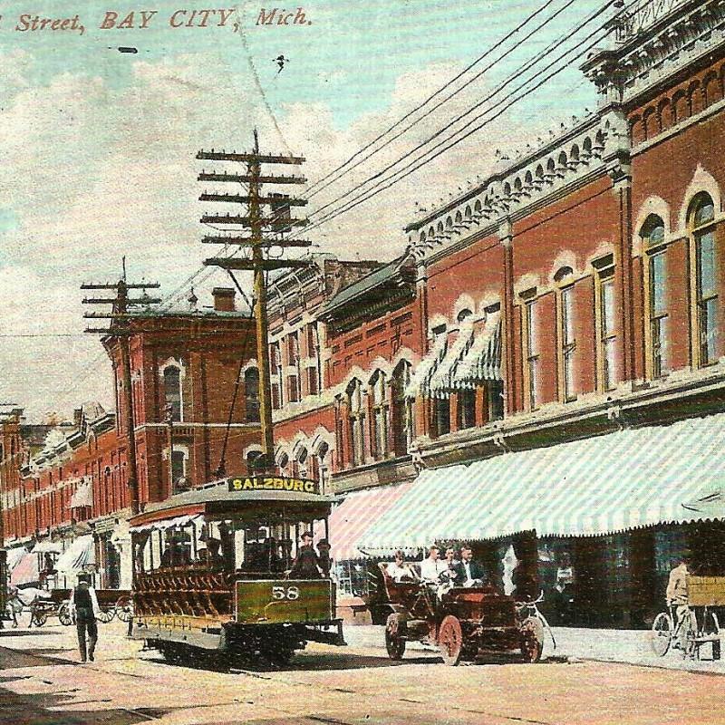 Midland Street Bay City 1908